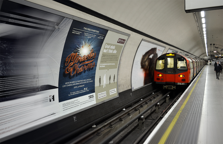 Miracles and Charms poster on London Underground